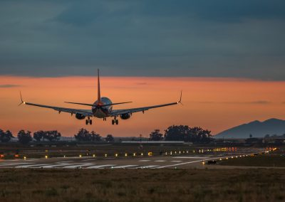 Boeing 737 Sunset Landing